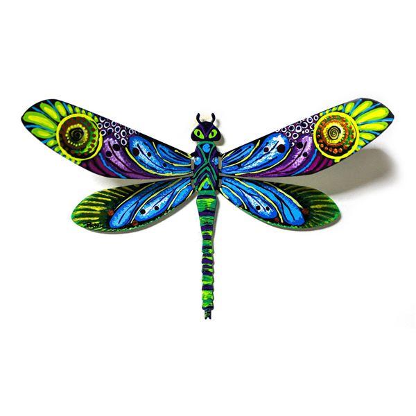 "Patricia Govezensky- Original Painting on Cutout Steel ""Dragonfly XCI"""