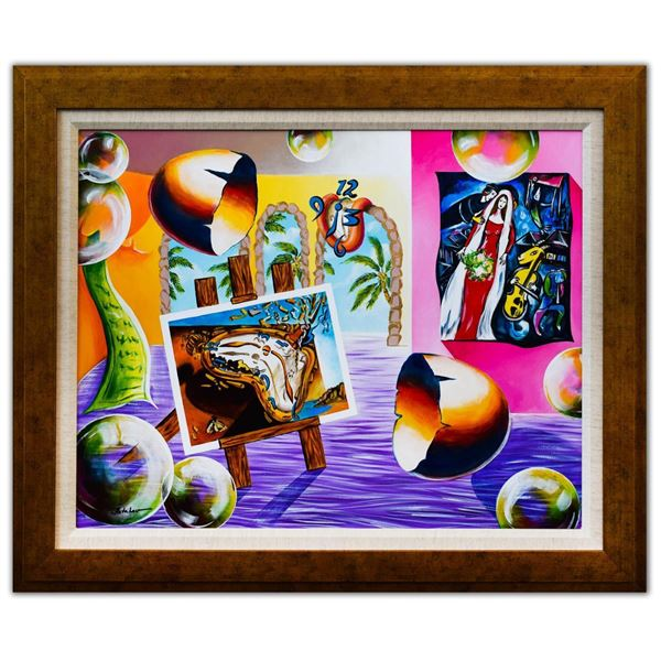 "Alexander Astahov- Original Oil on Canvas ""Sunny Day in Miami"""
