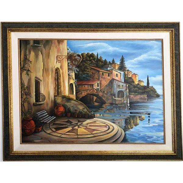 "Alexander Borewko- Original Oil on Canvas ""By The Ocean"""