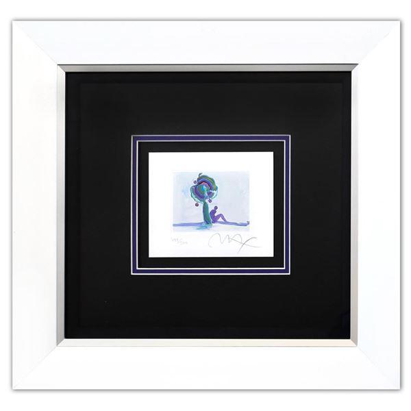 "Peter Max- Original Lithograph ""Figure Under Tree (Mini)"""