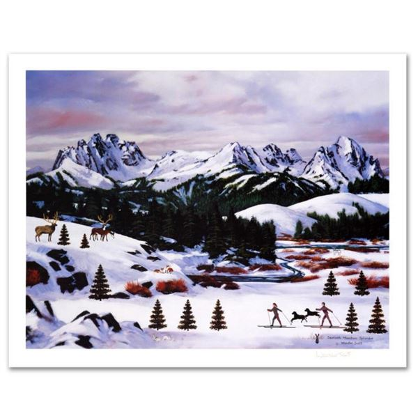 "Jane Wooster Scott, ""Sawtooth Mountain Splendor"" Hand Signed Limited Edition Lithograph with Letter"