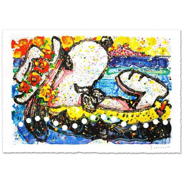 """Chillin"" Limited Edition Hand Pulled Original Lithograph (38.5"" x 26"") by Renowned Charles Schulz P"