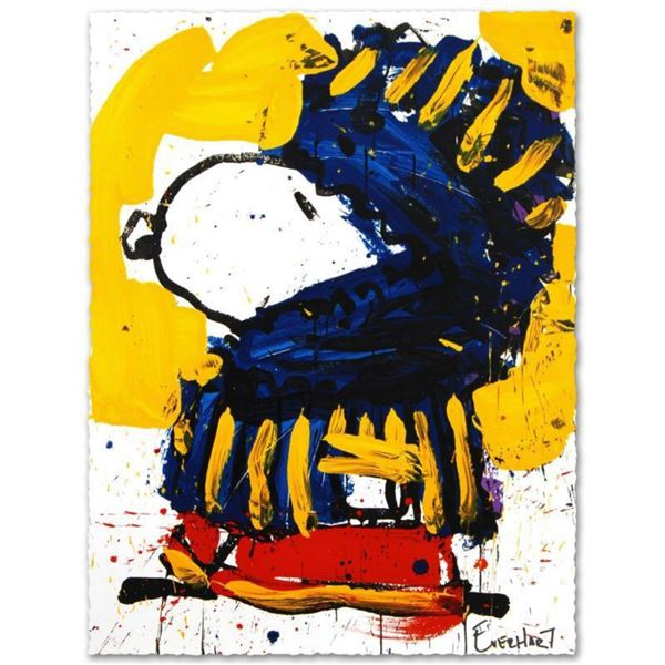 """March Vogue"" Limited Edition Hand Pulled Original Lithograph by Renowned Charles Schulz Protege, To"