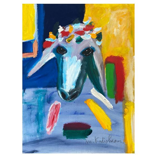 """Menashe Kadishman- Original Acrylic on Canvas """"Untitled"""""""
