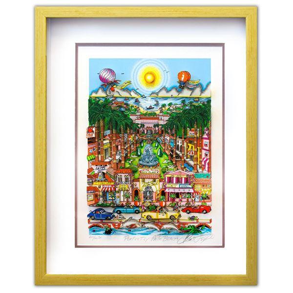 "Charles Fazzino- 3D Construction Silkscreen Serigraph ""Perfectly Palm Beach"""