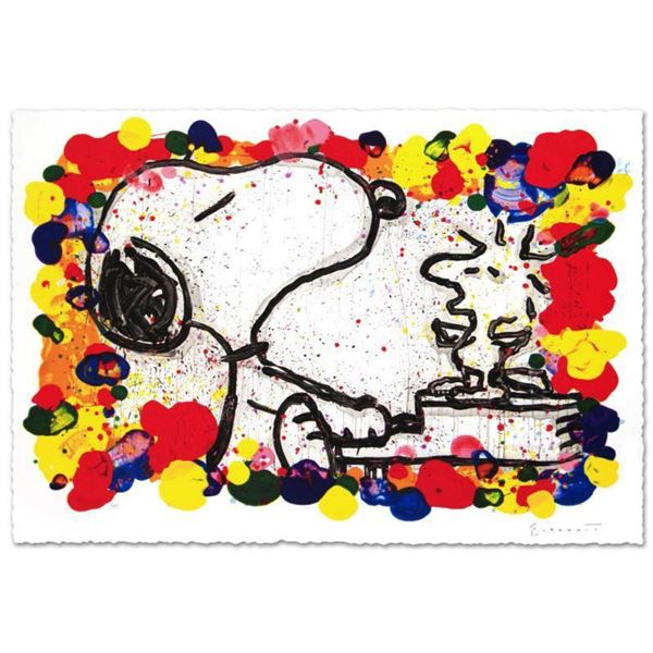 """""""Super Star"""" Limited Edition Hand Pulled Original Lithograph (36"""" x 27"""") by Renowned Charles Schulz"""
