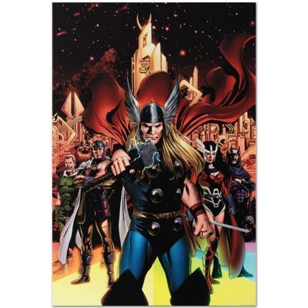 """Marvel Comics """"Thor #82"""" Numbered Limited Edition Giclee on Canvas by Steve Epting with COA."""