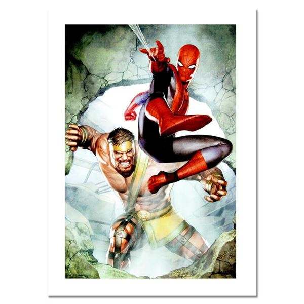 """Marvel Comics, """"Assault New Olympus Prologue #1"""" Numbered Limited Edition Canvas by Adi Granov with"""