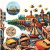"""Image 2 : Amram Ebgi, """"City of Jaffa"""" Limited Edition Lithograph, Numbered and Hand Signed with Letter of Auth"""