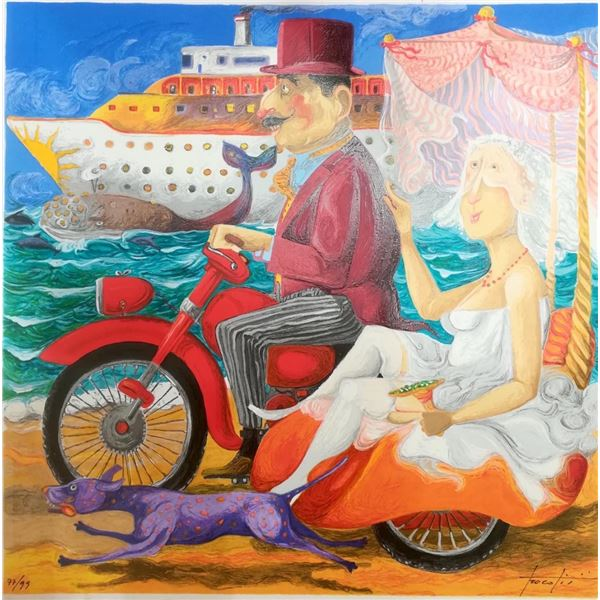 """Pino Procopio """"IN CROCIERA"""" Original Serigraph"""