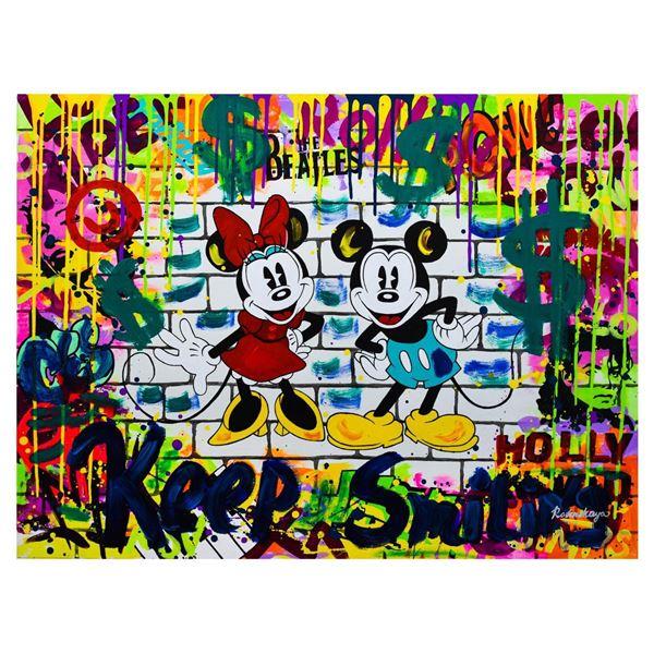 """Nastya Rovenskaya- Mixed Media """"Mickey & Minnie"""""""