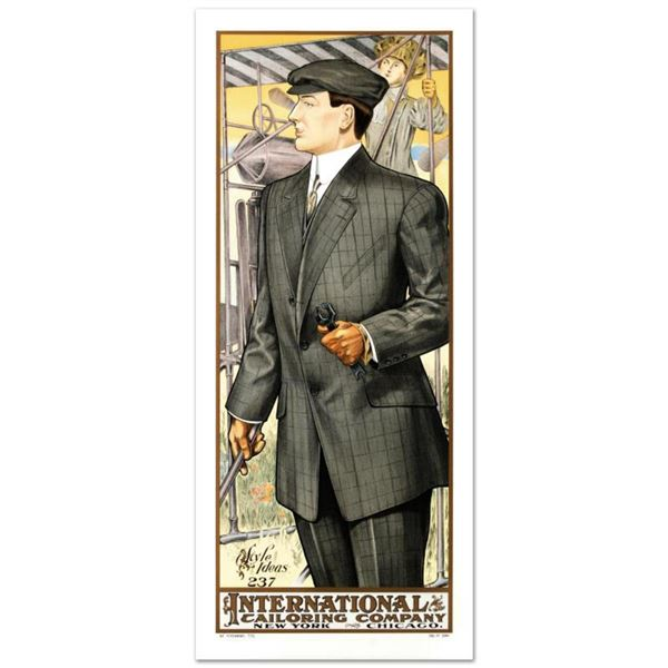 """RE Society, """"International Tailoring"""" Hand Pulled Lithograph. Includes Letter of Authenticity."""