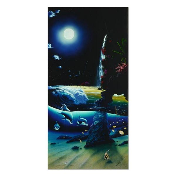 """Wyland, """"Island Paradise"""" Limited Edition Cibachrome, Numbered and Hand Signed with Certificate of A"""