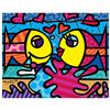 """Image 1 : Romero Britto """"New Deeply In Love"""" Hand Signed Giclee on Canvas; Authenticated"""