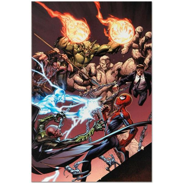"""Marvel Comics """"Ultimate Spider-Man #158"""" Numbered Limited Edition Giclee on Canvas by Mark Bagley wi"""