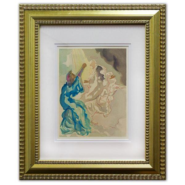 Salvador Dali- Original Color Woodcut on B.F.K. Rives Paper  Paradise 5