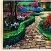 """Image 2 : Anatoly Metlan, """"Country Cottage"""" Hand Signed Limited Edition Serigraph on Paper with Letter of Auth"""