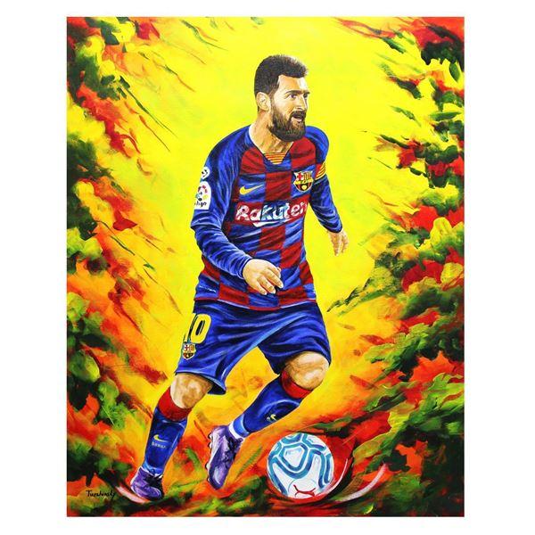 "Dimitry Turchinsky- Original Oil on Canvas ""Lionel Messi"""