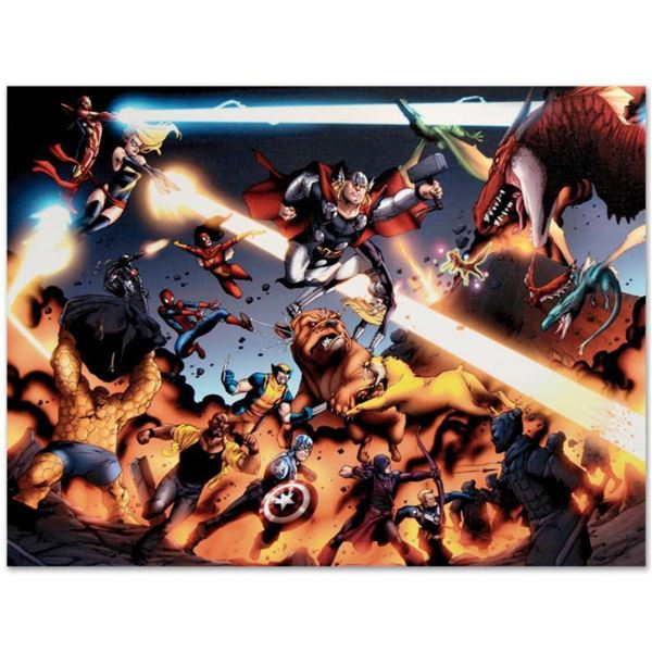 """Marvel Comics """"I Am An Avenger #4"""" Numbered Limited Edition Giclee on Canvas by Daniel Acuna with CO"""
