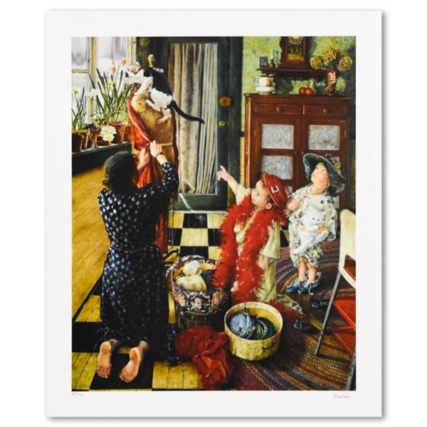 """Susan Brabeau, """"Dress Up"""" Limited Edition Seriolithogrpah, Numbered and Hand Signed with Letter of A"""