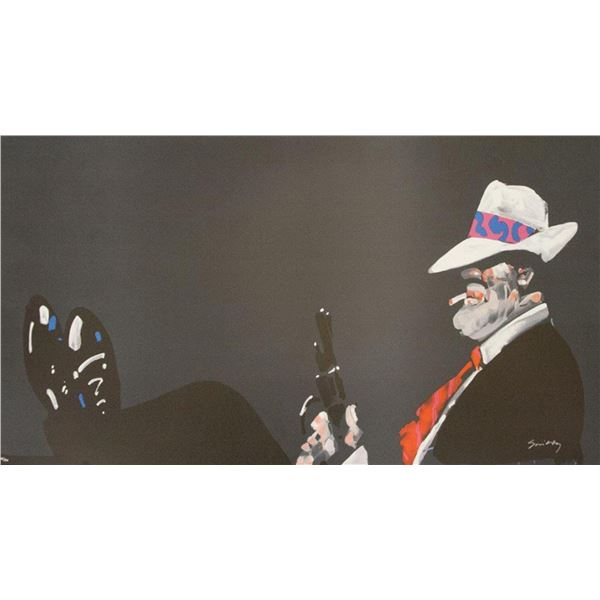"Waldemar Swierzy (1931-2013)- Hand Pulled Original Lithograph ""The Boss"""