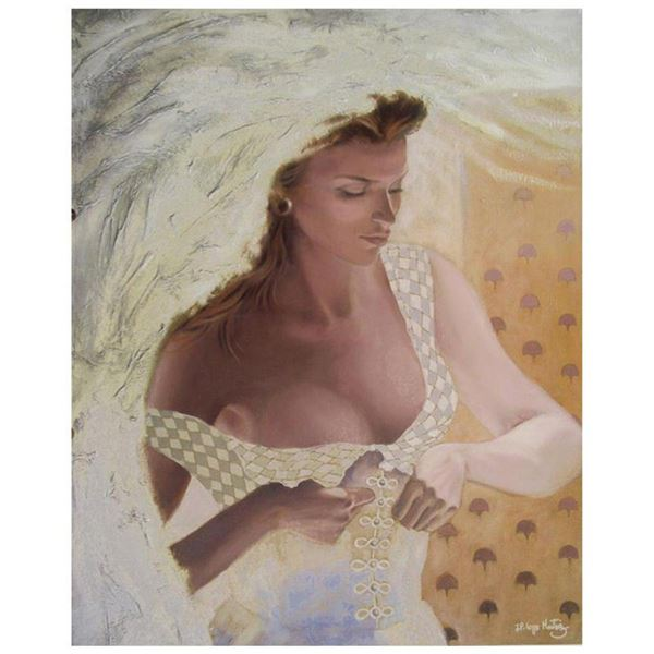 """Jean-Paul Loppo Martinez, """"La Mariee"""" Limited Edition Textured Giclee on Board, Numbered and Hand Si"""
