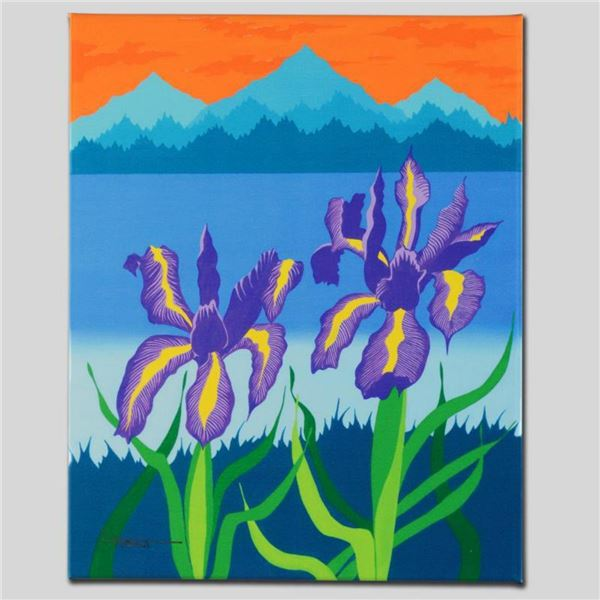 """""""Iris Lake"""" Limited Edition Giclee on Canvas by Larissa Holt, Numbered and Signed. This piece comes"""