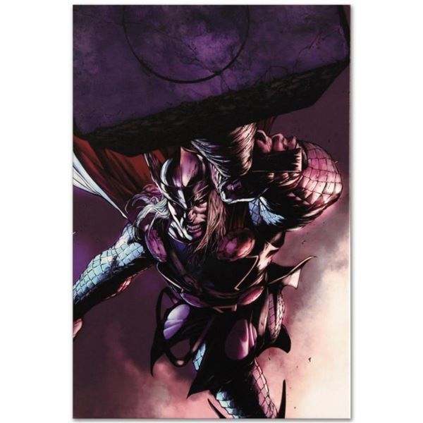 """Marvel Comics """"Thor #7"""" Numbered Limited Edition Giclee on Canvas by Marko Djurdjevic with COA."""