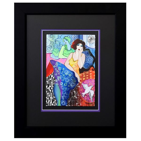 "Patricia Govezensky- Original Watercolor ""Thinking"""