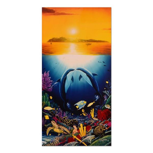 """Wyland, """"Paradise Found"""" Limited Edition Cibachrome, Numbered and Hand Signed with Certificate of Au"""
