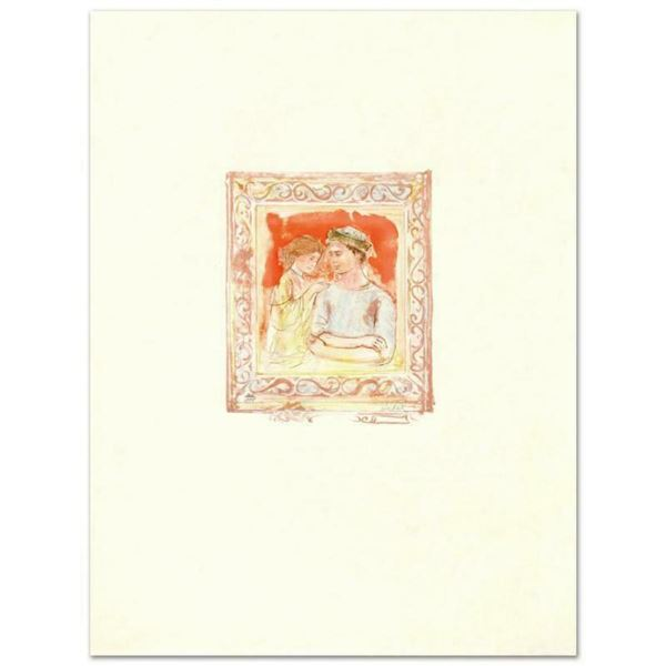 """""""Romance"""" Limited Edition Lithograph by Edna Hibel (1917-2014), Numbered and Hand Signed with Certif"""