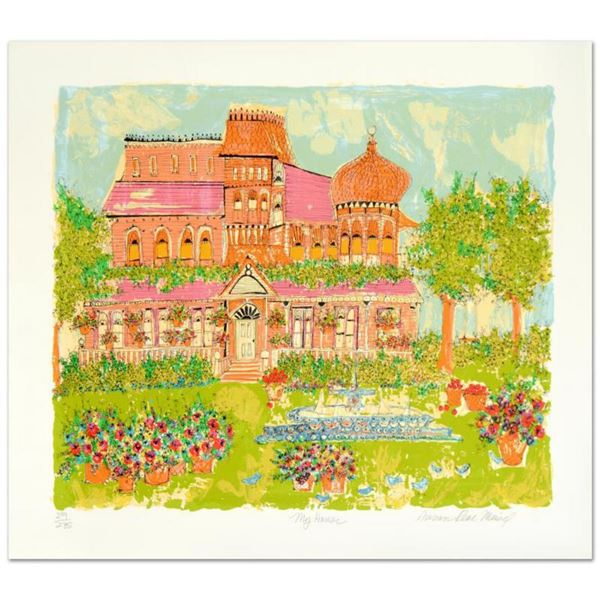 """""""My House"""" Limited Edition Serigraph by Susan Pear Meisel, Numbered and Hand Signed by the Artist. C"""
