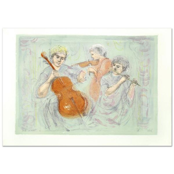 """""""Trio"""" Limited Edition Lithograph by Edna Hibel (1917-2014), Numbered and Hand Signed with Certifica"""