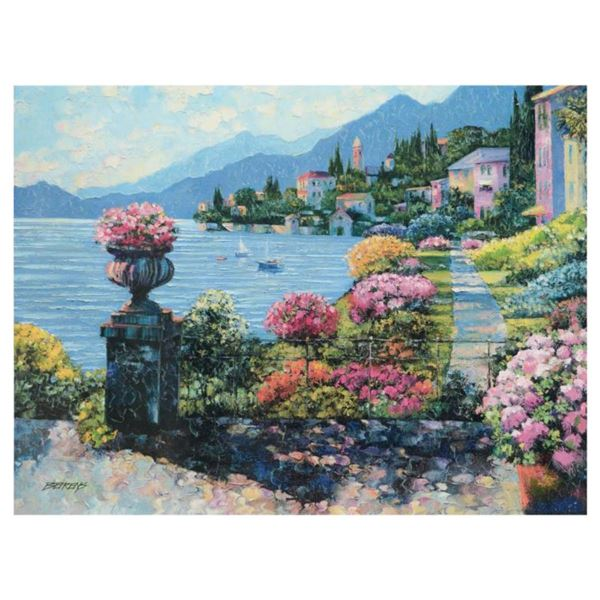 """Howard Behrens (1933-2014), """"Varenna Morning"""" Limited Edition on Canvas, Numbered and Signed with CO"""