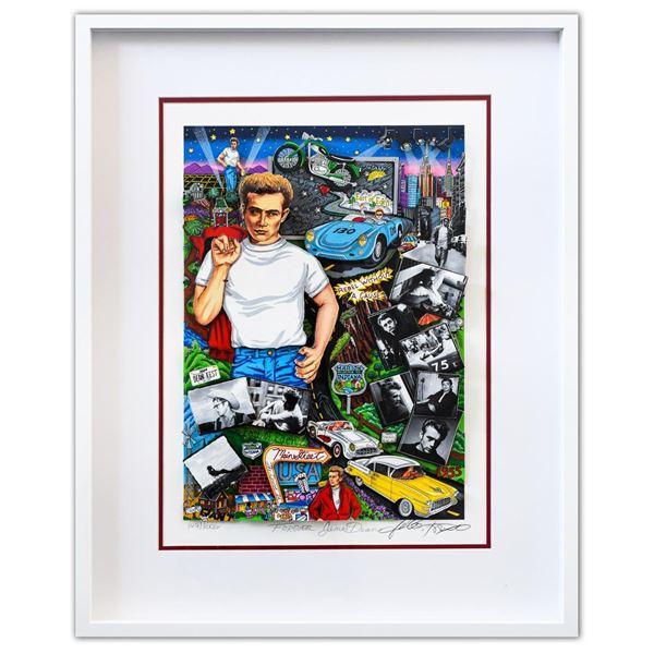 "Charles Fazzino- 3D Construction Silkscreen Serigraph ""Forever James Dean"""