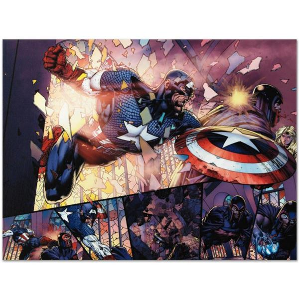 """Marvel Comics """"Ultimatum #4"""" Numbered Limited Edition Giclee on Canvas by David Finch with COA."""