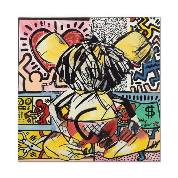 "Ringo Daniel Funes (Protege of Andy Warhol's Apprentice, Steve Kaufman), ""Observing Mouse II"" One-of"