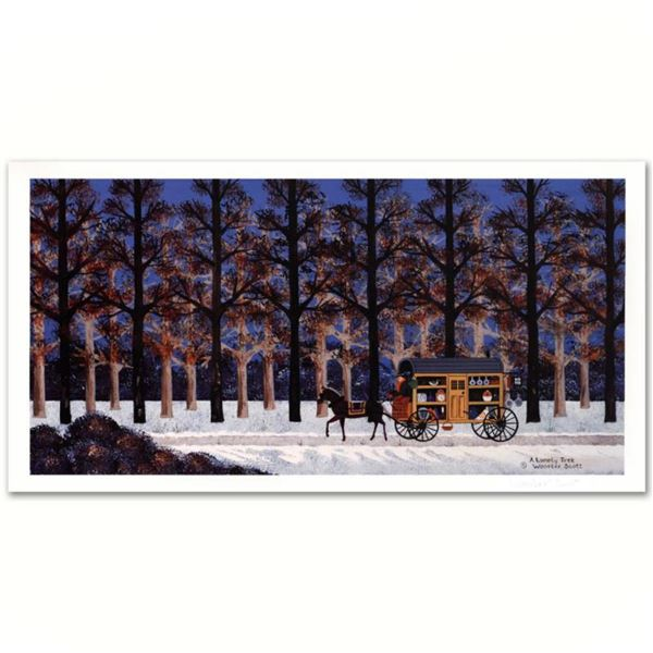 """Jane Wooster Scott, """"A Lonely Trek"""" Hand Signed Limited Edition Lithograph with Letter of Authentici"""