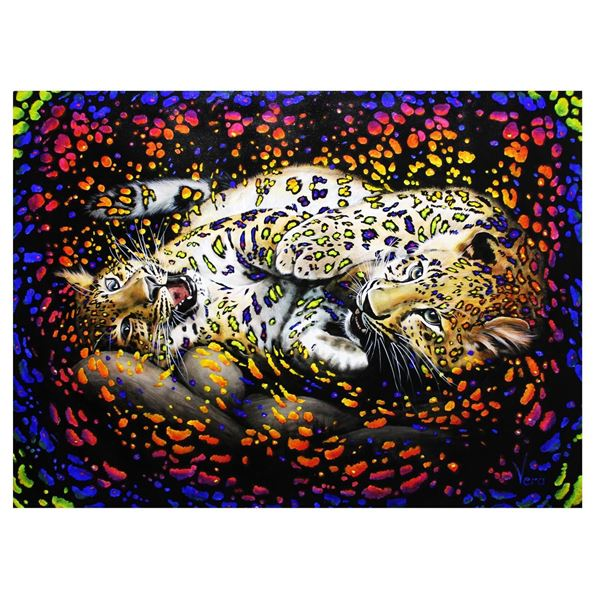 "Vera V. Goncharenko- Original Oil on Canvas ""Playing At Night"""