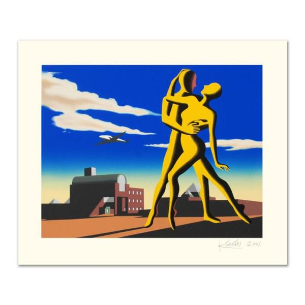 """Mark Kostabi, """"Yesterday's Here"""" Limited Edition Serigraph, Numbered and Hand Signed with Certificat"""