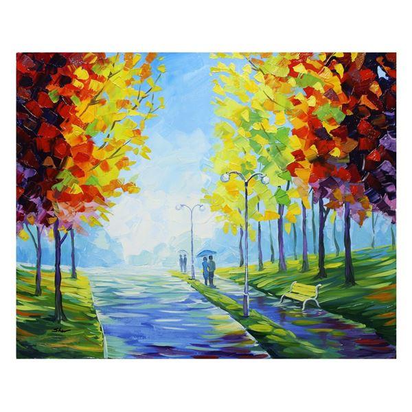 "Svyatoslav Shyrochuk- Original Oil on Canvas ""Rain Is Gone"""