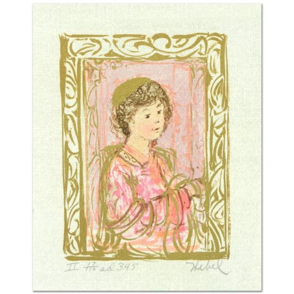"""Edna Hibel (1917-2014), """"Meditation"""" Limited Edition Lithograph with Remarque, Numbered and Hand Sig"""