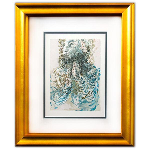 "Salvador Dali- Original Color Woodcut on B.F.K. Rives Paper ""Paradise 17"""