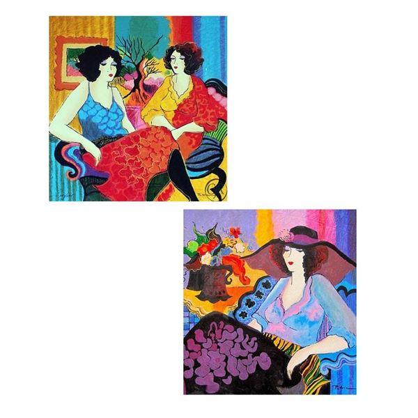 "Patricia Govezensky- Set of 2 Serigraph on Paper ""Noa and Models Talking"""