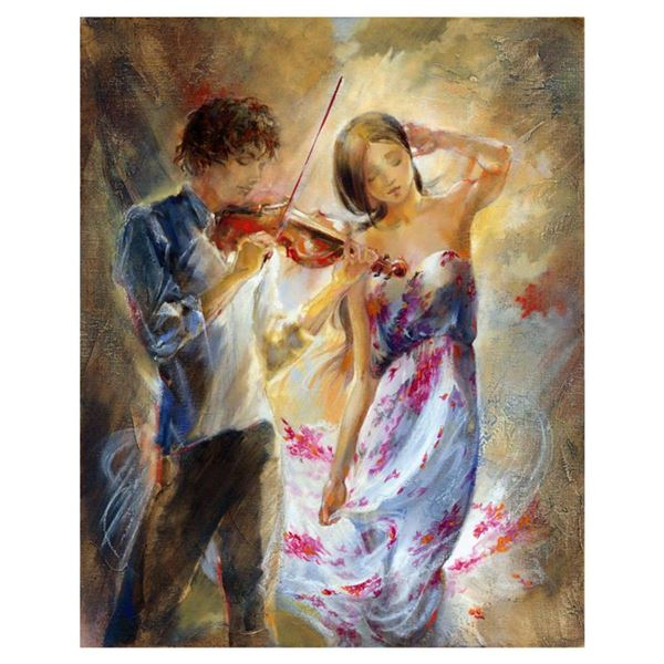 """Lena Sotskova, """"Summer Breeze"""" Hand Signed, Artist Embellished Limited Edition Giclee on Canvas with"""
