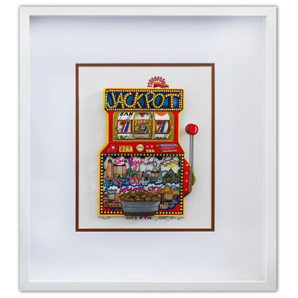 "Charles Fazzino- 3D Construction Silkscreen Serigraph ""Slots of Fun"""