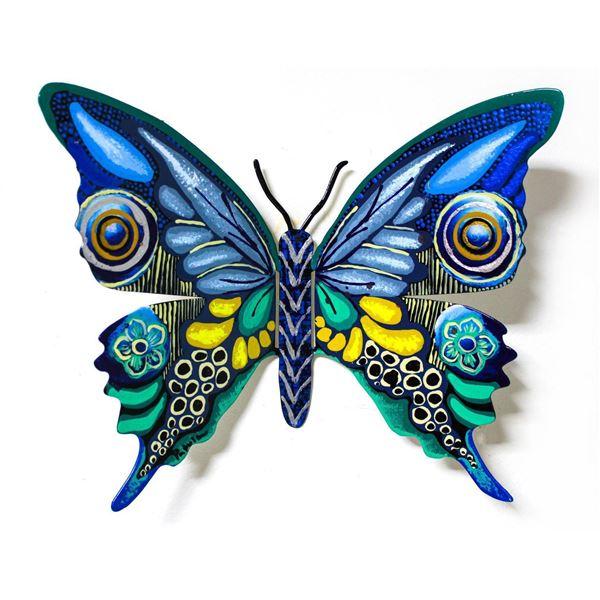 "Patricia Govezensky- Original Painting on Cutout Steel ""Butterfly CCXCV"""
