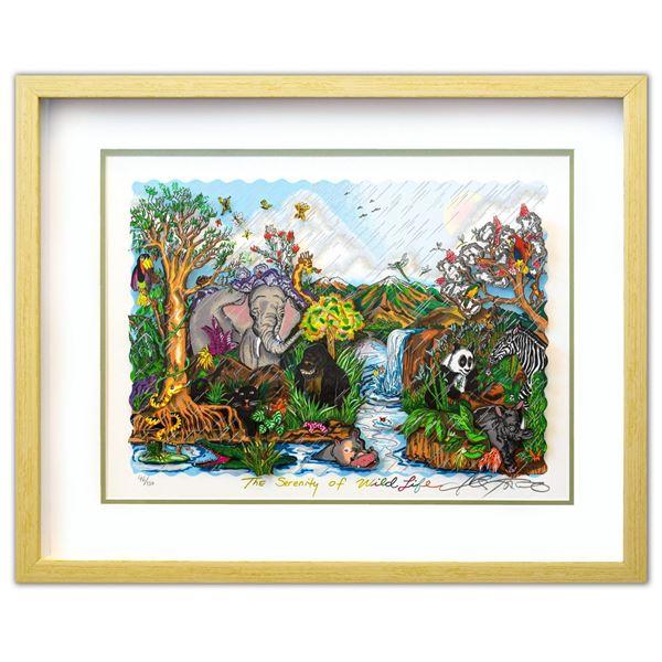 "Charles Fazzino- 3D Construction Silkscreen Serigraph ""The Serenity Of The Wildlife"""