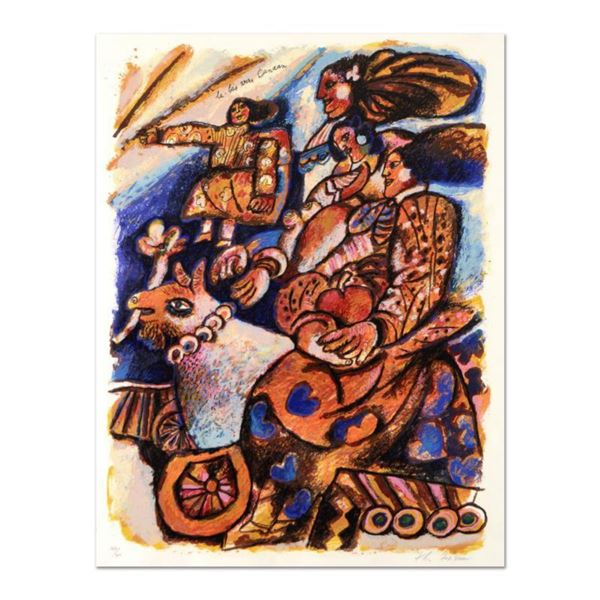 """Theo Tobiasse (1927-2012), """"La Bas Envers Canaan"""" Limited Edition Lithograph, Numbered and Hand Sign"""