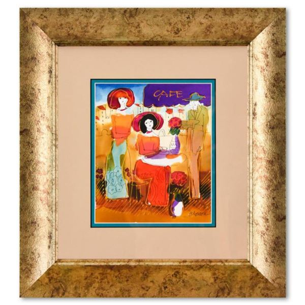 Moshe Leider, Framed Original Mixed Media Watercolor Painting, Hand Signed with Letter of Authentici